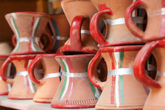 Terakota puszkuje dla sprzedaży w Nizwa, Oman Obrazy Royalty Free