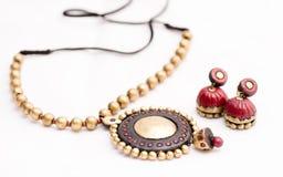 Terakotowa biżuteria Zdjęcie Royalty Free