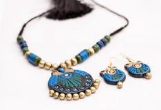 Terakotowa biżuteria Fotografia Royalty Free