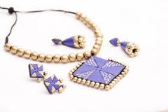 Terakotowa biżuteria Zdjęcie Stock