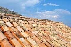 Terakotowa dach makata w Dubrovnik Starym miasteczku, Chorwacja zdjęcie royalty free
