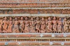 Terakotowe grafika Kalna, Burdwan, -, Zachodni Bengalia Obraz Stock