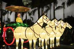 Terakotowi Chińscy lampiony zdjęcie stock