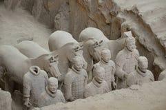 Terakotowi wojownicy od Xian Zdjęcia Royalty Free