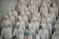 Terakotowi wojsko żołnierze, Porcelanowa podróż, Xian Obraz Stock