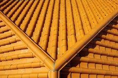 Terakotowy dachówkowy dach Zdjęcia Royalty Free