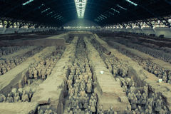 Terakotowy wojsko, jama jeden Zdjęcie Royalty Free