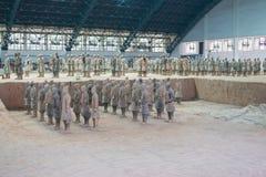 Terakotowy wojsko, xi., porcelana Fotografia Royalty Free