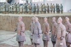 Terakotowy wojsko, xi., porcelana Zdjęcia Stock