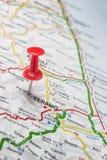 Teramo fixou em um mapa de Itália Imagem de Stock