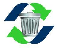återanvändning rackar ner på avfall Royaltyfri Foto