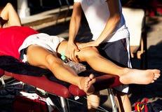 Massagem dos esportes Foto de Stock