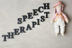 Terapeuta de discurso de la inscripción hecho con imagen de archivo libre de regalías