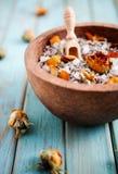 terapi för brunnsort för alternativ badhelthcareläkarundersökning salt royaltyfria foton