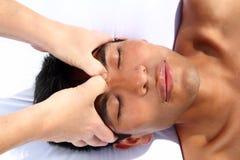 Terapia antigua del maya del masaje del tercer ojo de Chakras Fotografía de archivo libre de regalías