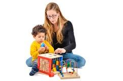 Terapia creativa de los niños imagen de archivo libre de regalías