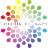Terapia da cor - terapia de Chromo ilustração royalty free