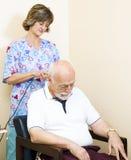 Terapia da garganta - ultra-som foto de stock