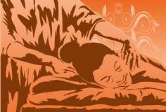 Terapia da massagem Imagens de Stock Royalty Free