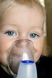 Terapia de la inhalación Foto de archivo libre de regalías