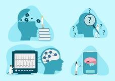 Terapia de la salud mental stock de ilustración