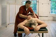 Terapia de Moxibustion Foto de Stock Royalty Free