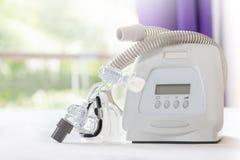 Terapia del apnea de sueño Foto de archivo
