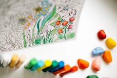 Terapia del arte y del color Libro de colorear anti del adulto de la tensión Imagen de archivo
