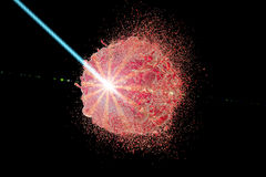 Terapia del laser del concepto del cáncer Fotos de archivo libres de regalías