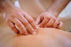 Terapia del masaje Fotografía de archivo libre de regalías
