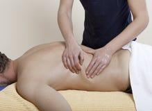 Terapia del masaje Fotos de archivo libres de regalías