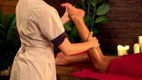 Terapia del masaje del pie 4K metrajes