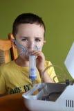 Terapia del nebulizador Fotografía de archivo
