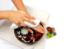 Terapia della mano di auto Fotografie Stock