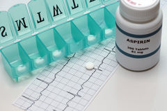 Terapia diária de Aspirin fotos de stock royalty free