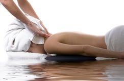 Terapia di massaggio fotografia stock