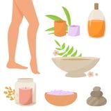 Terapia dos termas para os pés Fotografia de Stock Royalty Free