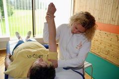 Terapia física Fotografía de archivo libre de regalías