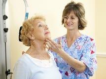 Terapia física - garganta Imagens de Stock Royalty Free