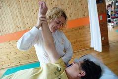 Terapia fisica Immagini Stock Libere da Diritti