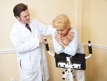 Terapia fisica della donna maggiore Fotografia Stock Libera da Diritti