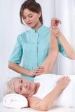 Terapia fisica per il braccio Immagine Stock Libera da Diritti