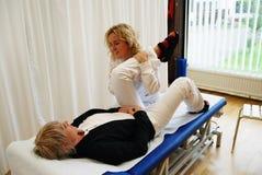Terapia física Foto de archivo