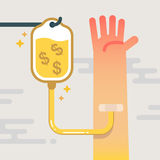 Terapia intravenosa por el dinero del goteo libre illustration