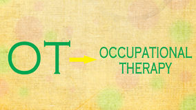 Terapia ocupacional OT fotos de stock royalty free