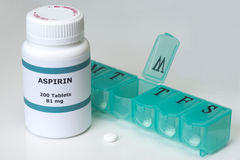 Terapia quotidiana di Aspirin Fotografia Stock