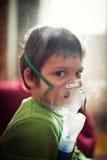 Terapia respiratoria del nebulizzatore Fotografie Stock