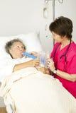 Terapia respiratoria in ospedale Immagini Stock