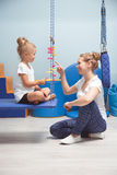 Terapia sensoriale di integrazione per i bambini Fotografia Stock