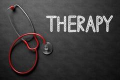 Terapia sulla lavagna illustrazione 3D Fotografie Stock Libere da Diritti